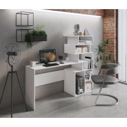 Regal-Schreibtisch MEL WEIß 160